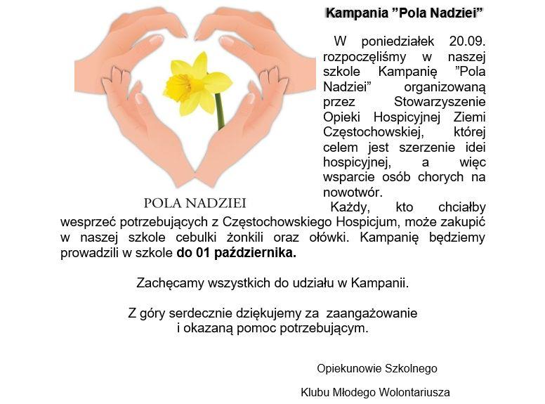 """Kampania """"Pola Nadziei"""""""